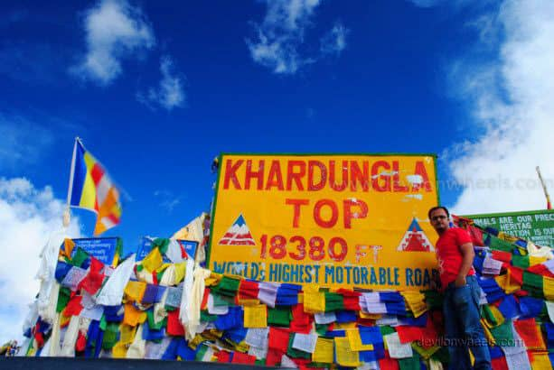 Dheeraj Sharma at Khardung La in Leh - Ladakh