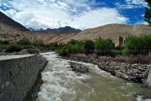 River Stream in Khalsar village in Leh - Ladakh
