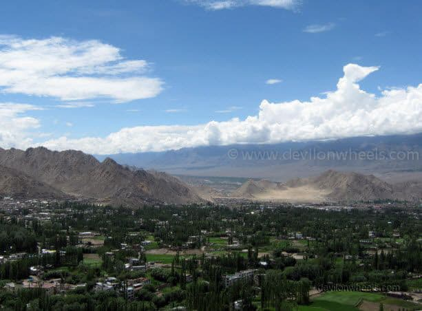 Views from Shanti Stupa in Leh - Ladakh
