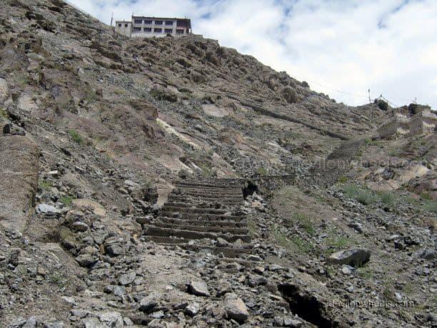 Staires to Shanti Stupa in Leh - Ladakh