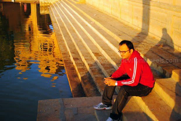 Dheeraj Sharma at Gadisar Lake, Jaiselmer