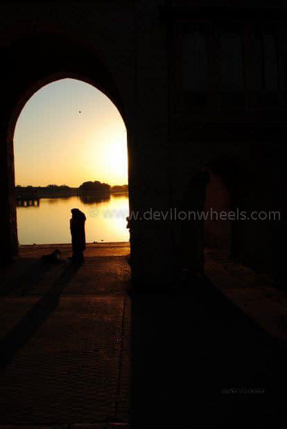 Sunrise at Gadisar Lake, Jaiselmer