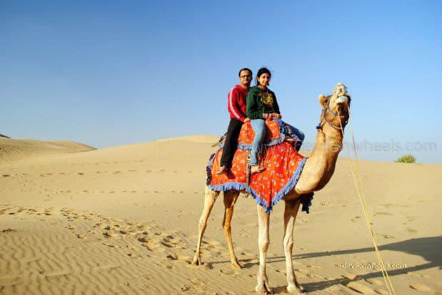 Dheeraj Sharma in Sam Sand Dunes, Jaiselmer