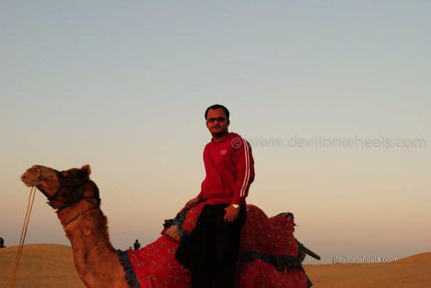 Dheeraj Sharma at Sam Sand Dunes, Jaiselmer