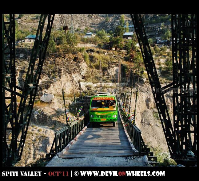 The Akpa Bridge in Kinnaur Valley