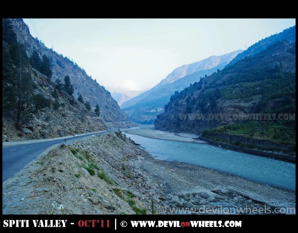 The AQUA Colored Satluj River