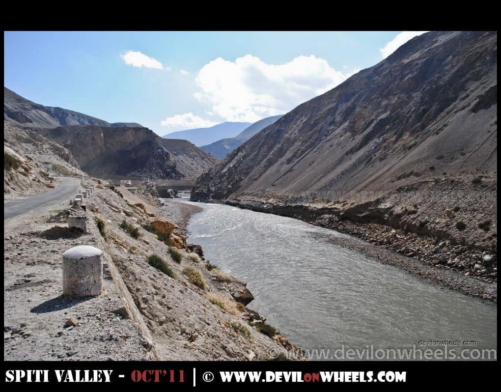 Sumdo, Views at Hindustan Tibet Road between Nako and Tabo