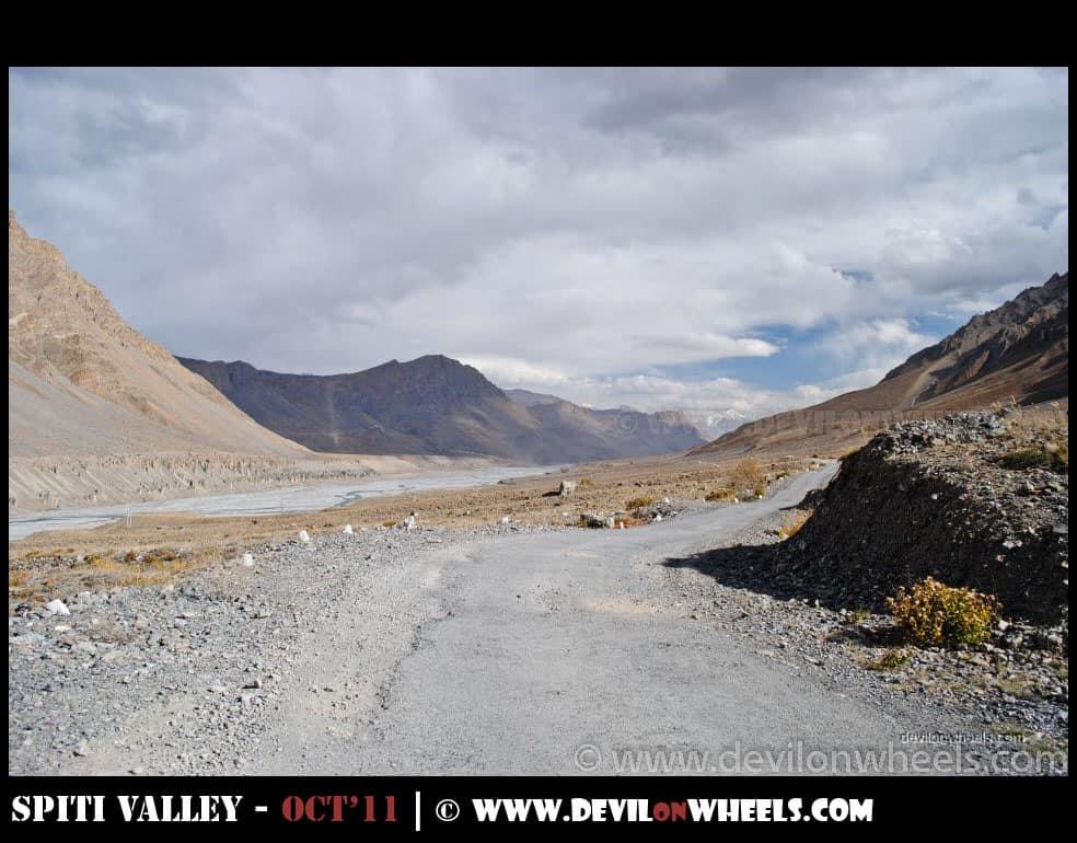 Road towards Kaza from Losar