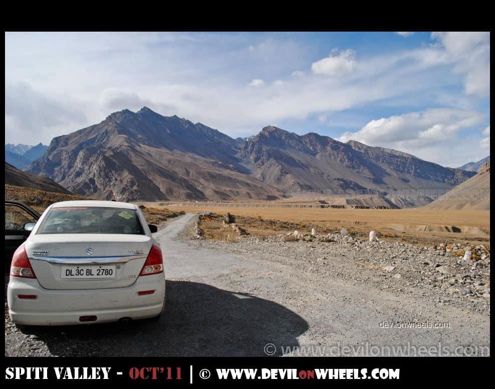 Road towards Losar from Kaza