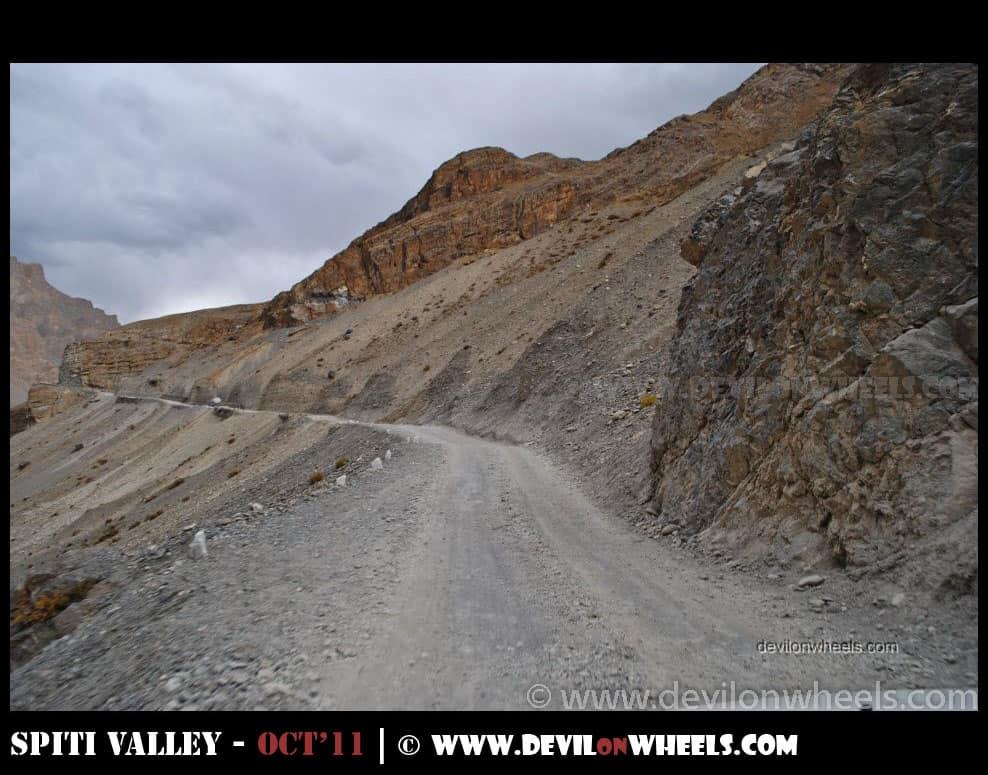 Rough or bad roads between Kaza and Losar