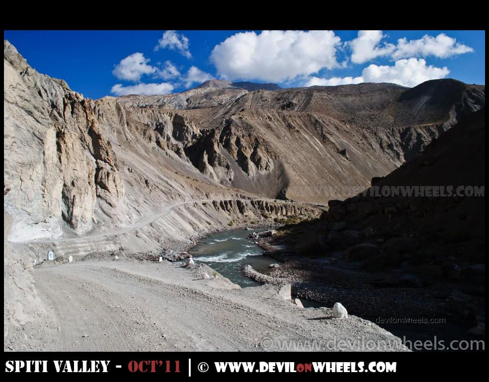 Views between Kaza and Tabo in Spiti Valley