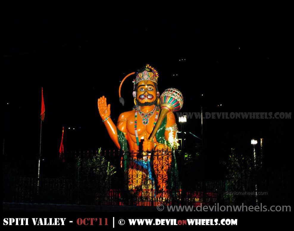 Lord Hanuman Statue at Rampur