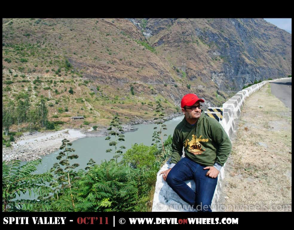 Dheeraj Sharma on the way to Spiti Valley