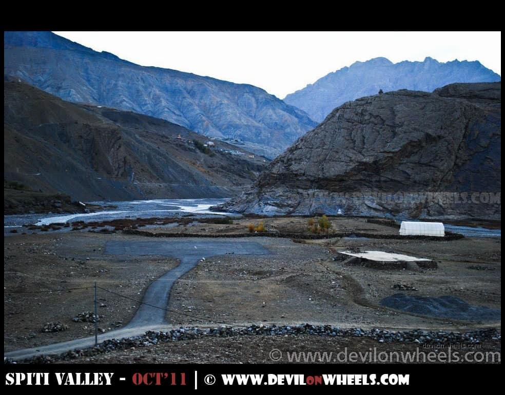 Helipad at Sagnam Village in Pin Valley