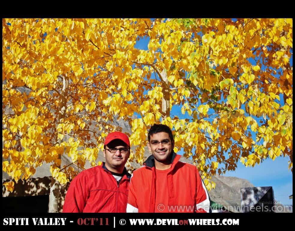Dheeraj Sharma and Saurabh Sharma at Sagnam Village in Pin Valley