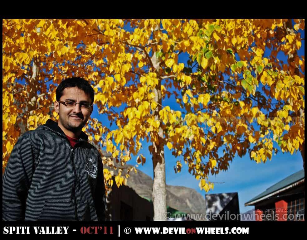 Dhruv Sharma at Sagnam Village in Pin Valley