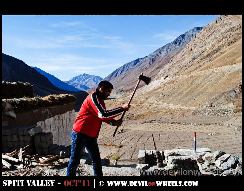 Saurabh Sharma at Sagnam Village in Pin Valley