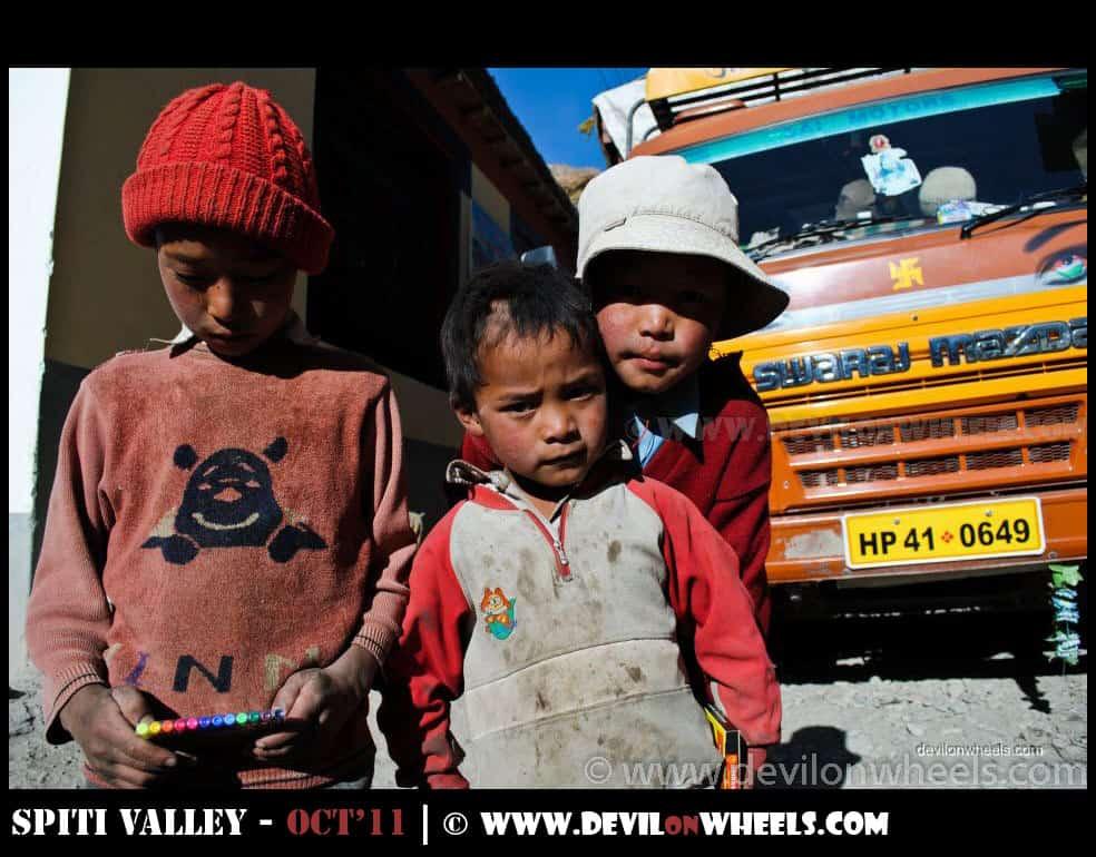 Children at Mud Village in Pin Valley