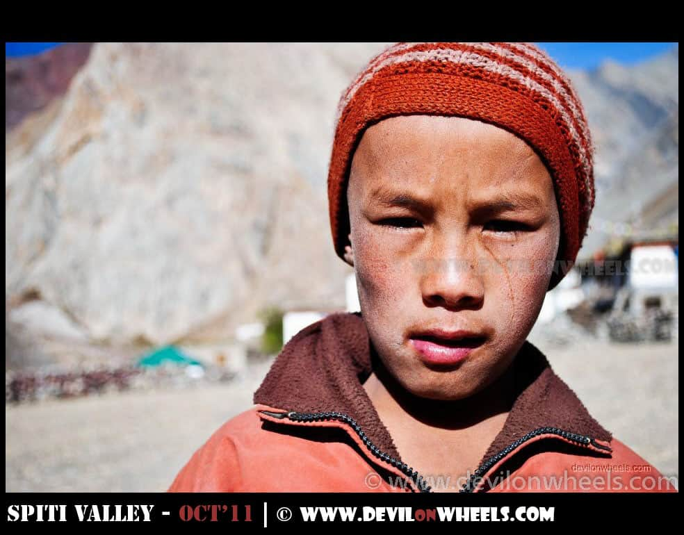 Child at Mud Village in Pin Valley