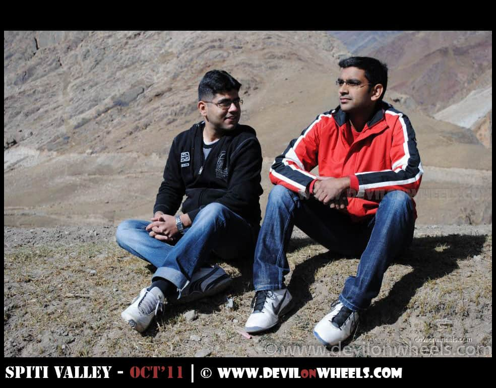Neeraj Arora and Saurabh Sharma at Mud Village in Pin Valley
