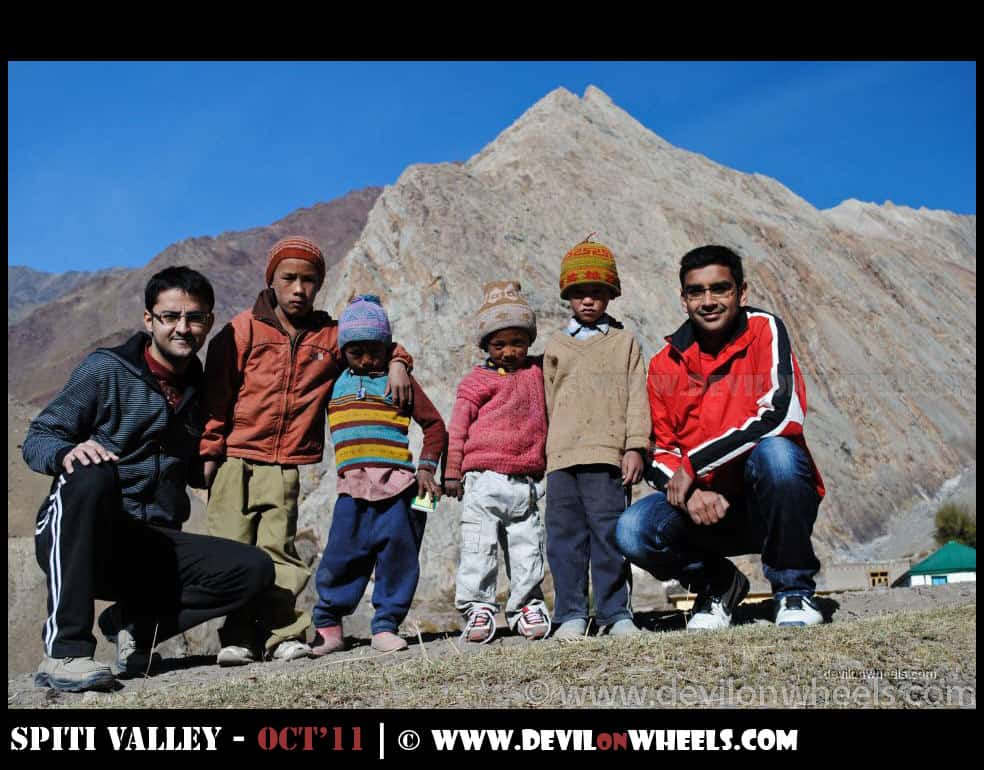 Children at Mud Village in Pin Valley