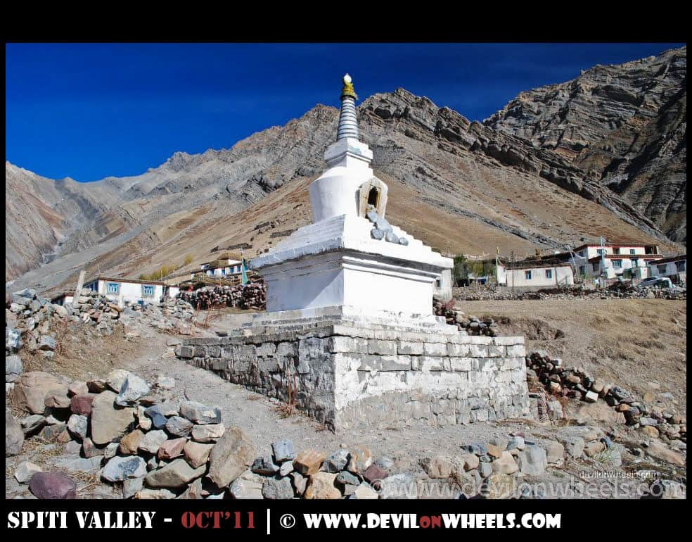 A Chorten at Mud Village in Pin Valley