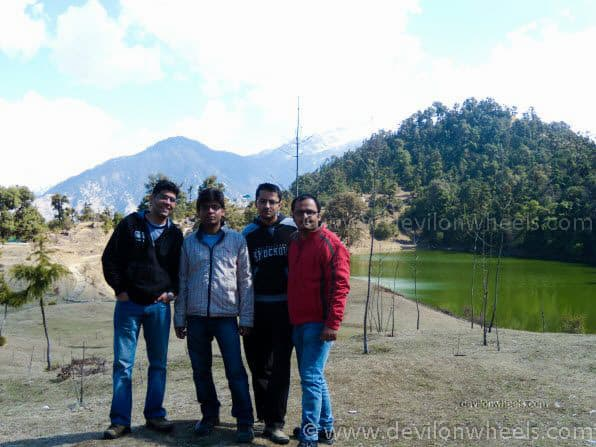 Dheeraj Sharma and his friends at Deoria Tal