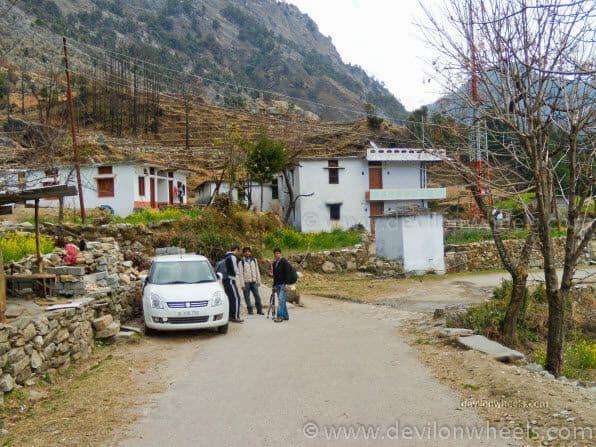 My Car parked at Sari Village
