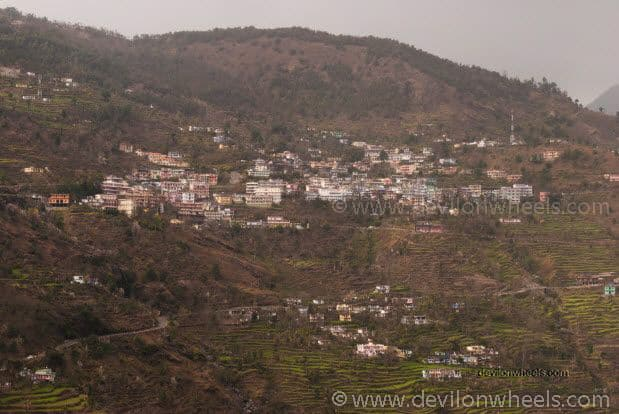 Views of Guptkashi from Ukhimath