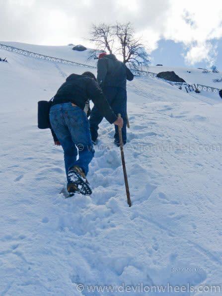 Dheeraj Sharma and his friends on Chopta - Tungnath Snow Trek