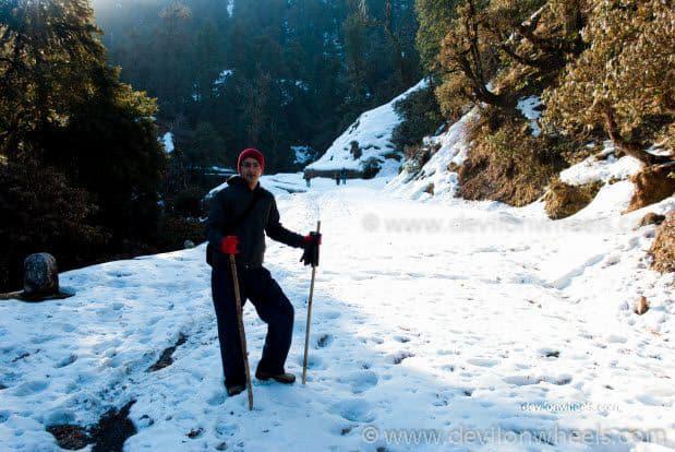 Dheeraj Sharma's cousin on Chopta - Tungnath Snow Trek