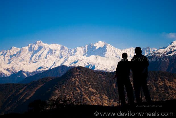 View from Chopta - Tungnath Snow Trek