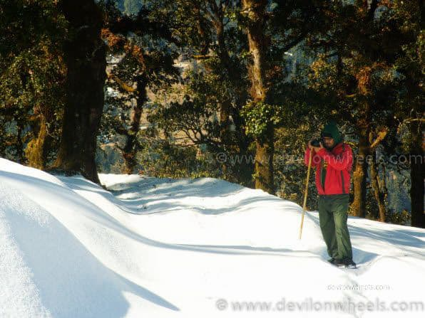 Dheeraj Sharma on Chopta - Tungnath Snow Trek