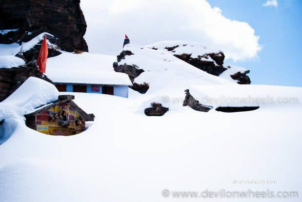 Tungnath Temple in Snow