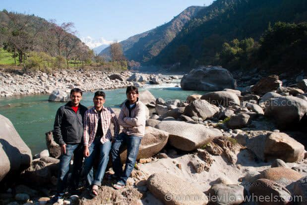 Dheeraj Sharma and his friends at Syal Saur near Ukhimath