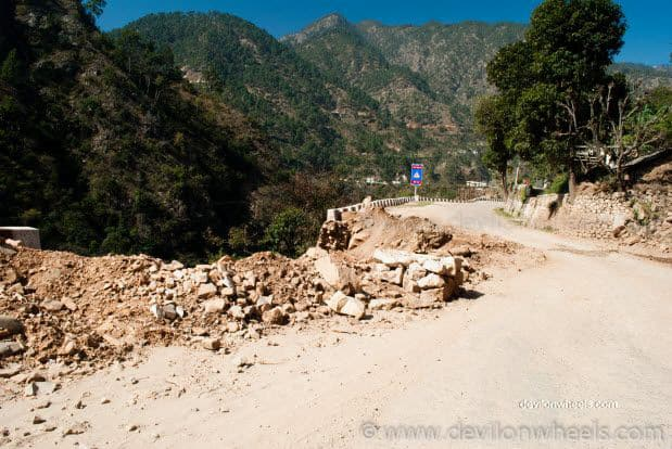 Roads near Rudra Prayag