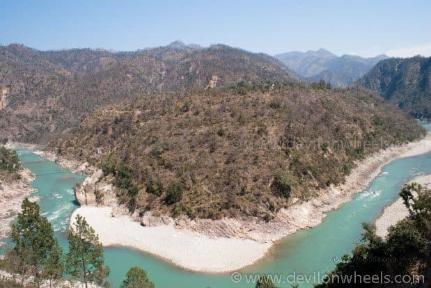Views of Alaknanda River near Rudra Prayag