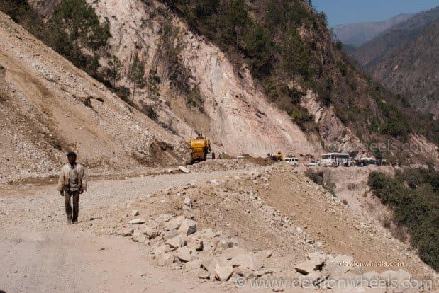 Landslide near Rudra Prayag