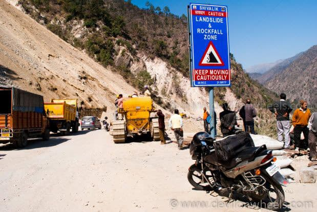 Landslide zone near Rudra Prayag