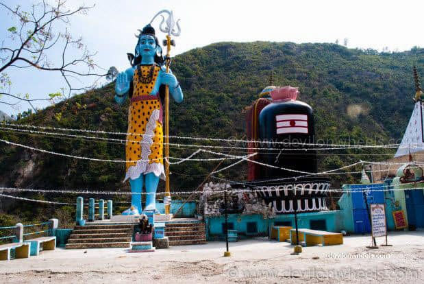 Statue of Lord Shiva near Dev Prayag