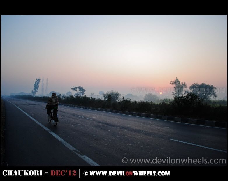 An early morning on the road to Nainital