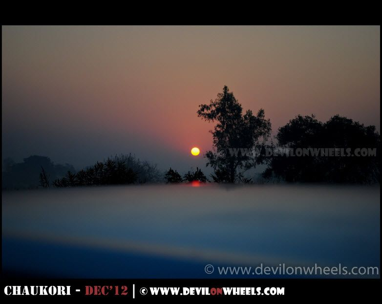 Sunrise some where near Gar Ganga on the way to Nainital Lake
