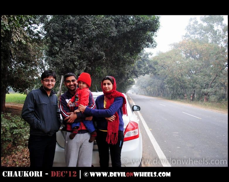 The Family excluding me :D on the Trip to Nainital