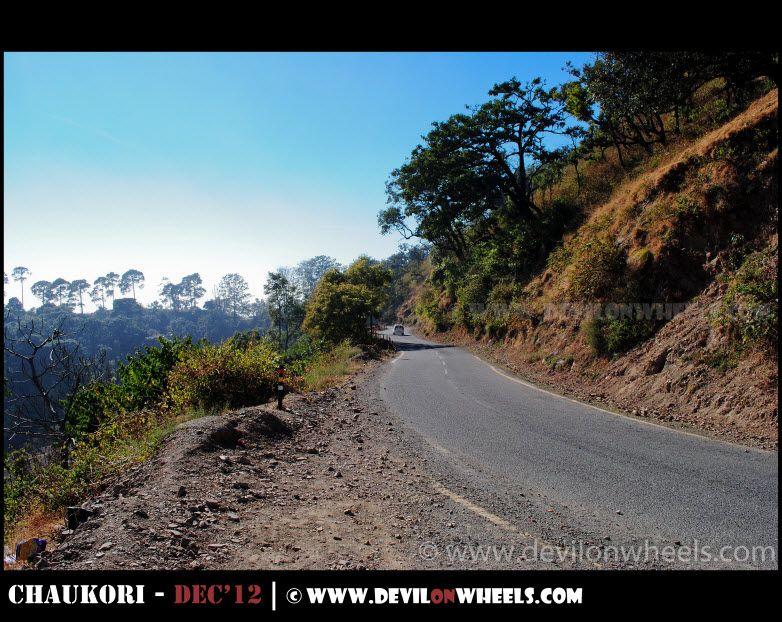 Road leading to Nainital