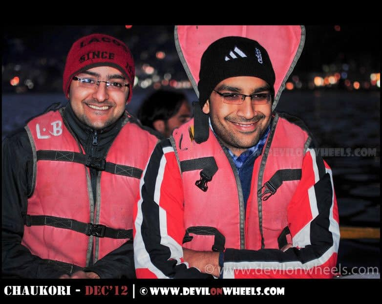 Saurabh & Dhruv Feeling the Cold at Nainital Lake