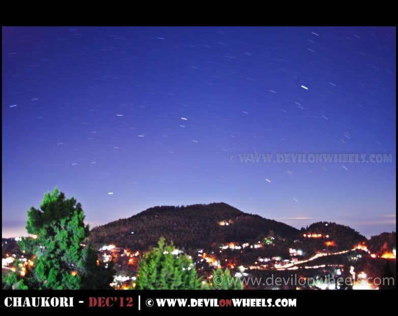 Stars Trails, Moving over Nainital