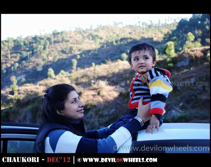 Junior Enjoying the Vistas somewhere near Almora