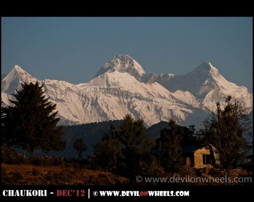 Nanda Devi & Nanda Devi East as seen from Chaukori