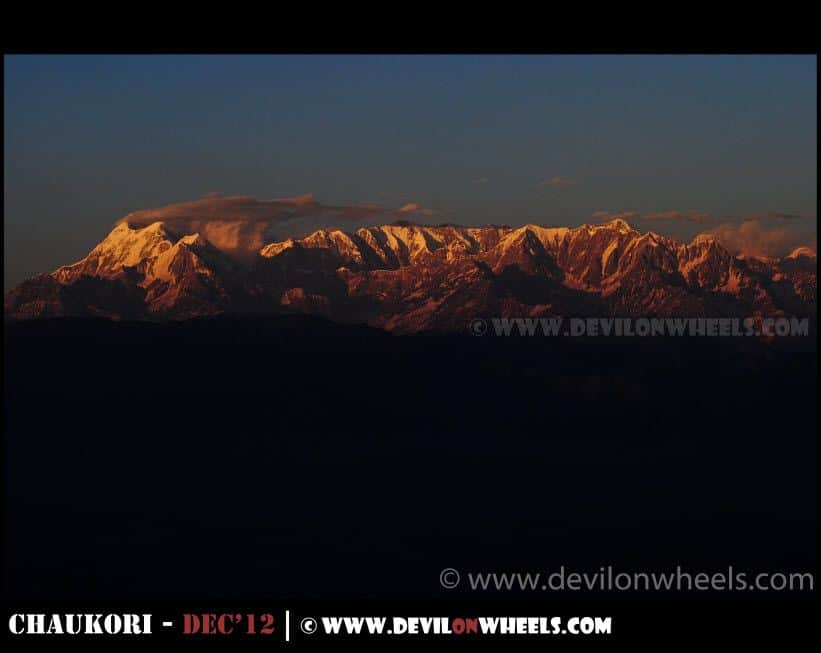 Sunset at Mrigthuni Peak - 6855 Mtrs as seen from Kausani