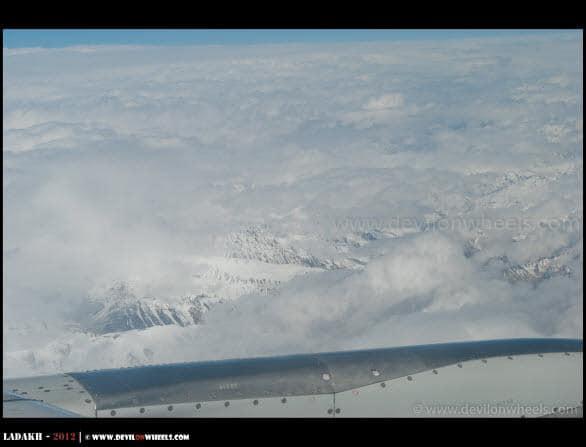 Himalayas from Delhi - Leh Flight...